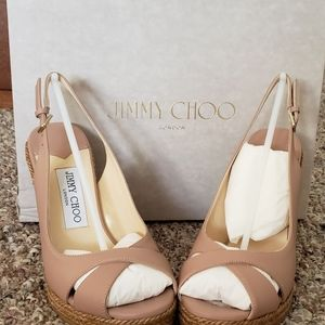 Authentic NWT Jimmy Choo Amely 105 wedges